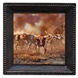 Set of 4 Absorbent Coasters - Day of the Horns - Bronze