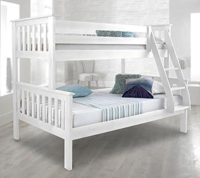 Happy Beds Atlantis Solid Pine Wooden Triple Sleeper Bunk Bed Frame