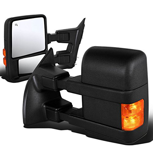 Why Choose Ford Super Duty 2nd-3rd Gen Pair of Power+Heated+Turn Signal Light Manual Folding Towing ...