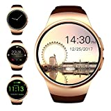 Bluetooth Smart Watch, Evershop 1.5 inches IPS Touch Screen Smartwatch Phone with SIM Card Slot, Sleep Monitor, Heart Rate Monitor and Pedometer for IOS and Android Device (gold)