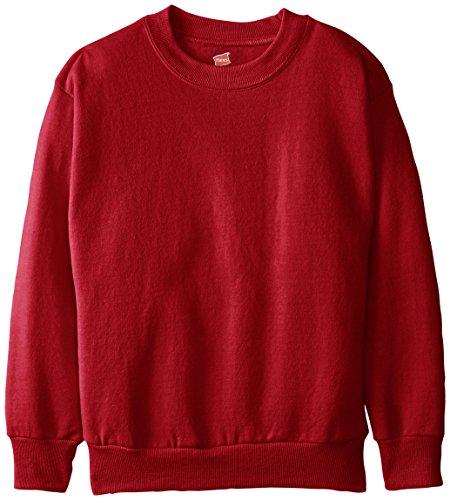 hanes-big-boys-eco-smart-fleece-crew-deep-red-medium