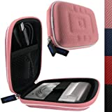 IGadgitz Hand Held Video Camera Hard Case Cover for Sony Bloggie MHS-PM5 HD Pocket Camcorder - Pink