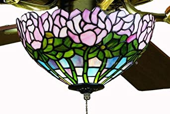 Tiffany Street 25030 Cabbage Rose Stained Glass Ceiling