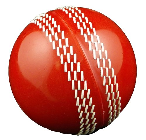 Upfront Magikk Cricket Ball. Semi-Hard. Solid Core. Rubber Outer. - Red - Adults