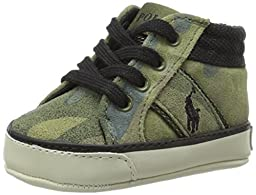 Ralph Lauren Layette Bawtry High Top (Infant/Toddler), Army Camouflage, 2 M US Infant