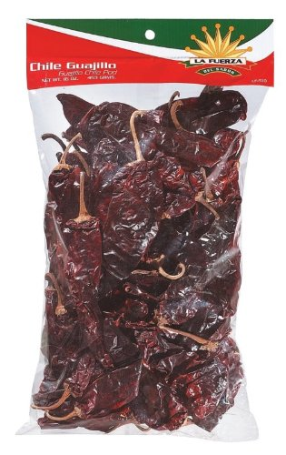 La Fuerza Chili Guajillo Pods, 16-Ounce Bags (Pack of 3)