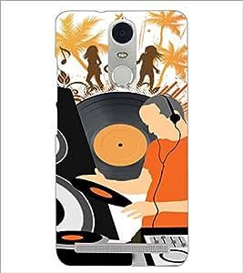 PrintDhaba Music D-4117 Back Case Cover for LENOVO K5 NOTE (Multi-Coloured)