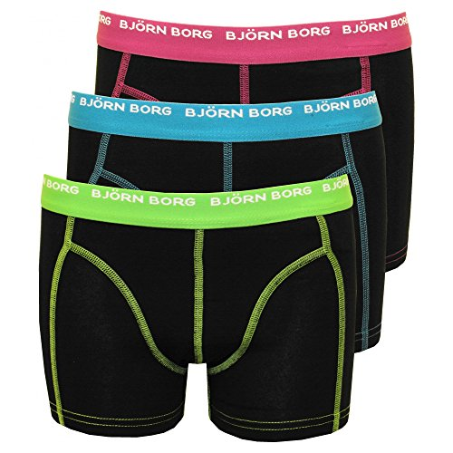 bjorn-borg-3-pack-contrast-colour-boys-boxer-trunks-black-age-8-10-black-with-green-blue-purple