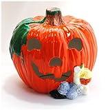 【ハロウィン雑貨】 パンプキン ランタン (陶製) / お楽しみグッズ(紙風船)付きセット