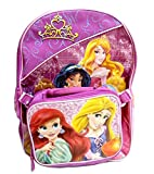 Disney Princess Backpack With Attached Lunch Bag Set