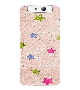 PrintVisa Star Pattern 3D Hard Polycarbonate Designer Back Case Cover for Oppo N1