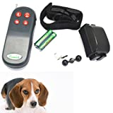 GREENWON No Barking Anti Bark Pets Dogs Electric Shock Vibration Control Training Collar With Remote Control Rechargeable...