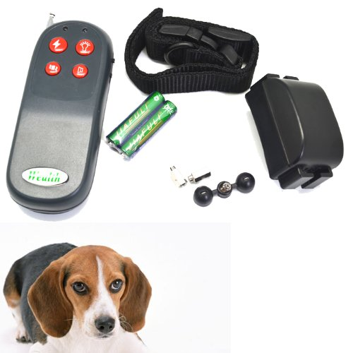 Greenwon No Barking Anti Bark Pets Dogs Electric Shock Vibration Control Training Collar With Remote Control Rechargeable Bark Control Dog Training Bark Control Collar