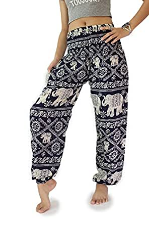 Brilliant  Women39s Elephant Print WideLeg Pants Red At Amazon Womens Clothing