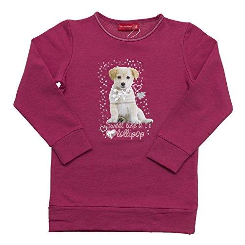 SALT AND PEPPER Sweat Cats & Dogs Lollipop, Felpa Bambina, Rosa (Purple Wine Melange 895), 6 anni
