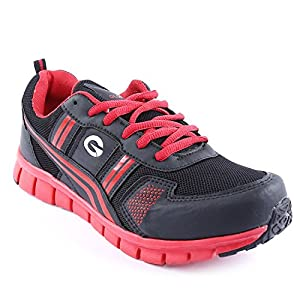 Globalite Men's Sports Shoes Vertax Black Red GSC0284