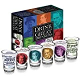 Drink with the Great Drinkers Shotglass Set