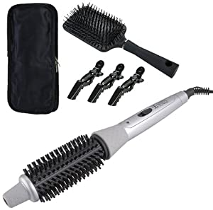 Perfect Fusion Styler with Travel Bag, Detangle Brush and Styling Clips