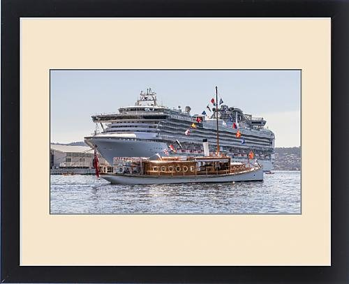 framed-print-of-steam-launch-and-cruise-ship-in-hobart