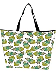 Snoogg A Seamless Leaf Pattern Waterproof Bag Made Of High Strength Nylon - B01I1KJC9K