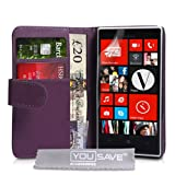 Yousave Accessories PU Leather Wallet Cover for Nokia Lumia 720 - Purple