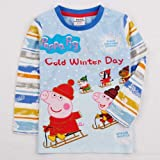 Childrens unisex Peppa Pig cold winter day print tee. 5-6Years