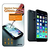 [Thin Glass version] JOTO iPhone 6 4.7 Tempered Glass Screen Protector Guard (0.2mm thickness, Ultra Transparency, 8-9 H Hardness, Anti-smudge, Bubble-free apply) Real Glass Screen Protector film exclusive for Apple iPhone 6 4.7 inch (1 Pack)
