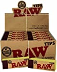 Raw Rolling Paper Tips Box of 50 pack...