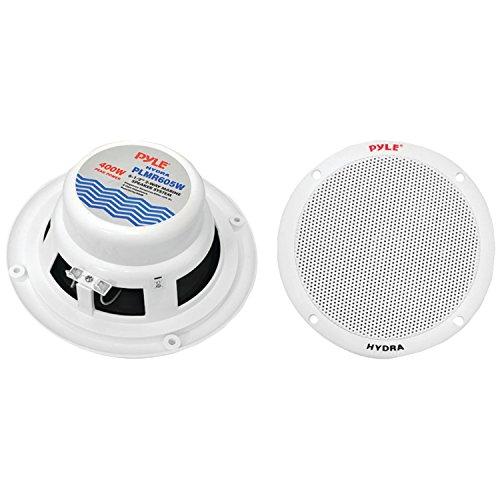 Pyle Plmr605W 6-1/2-Inch Dual Cone Marine Speakers (White)