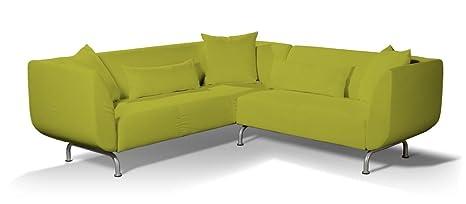 Dekoria Fire Retarding IKEA STROMSTAD 3+ 2Sitzer Ecksofa Bezug–Lime/Gras grun