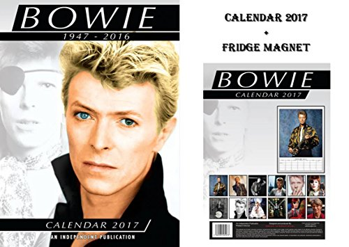 DAVID BOWIE 2017 CALENDARIO + DAVID BOWIE CALAMITE DA FRÍO - FRIDGE MAGNET
