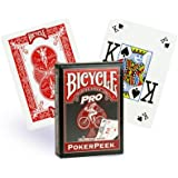 Bicycle - 1017493 - Jeu de Société - Pro Red and Blue Mix Deck - Coloris Aléatoire