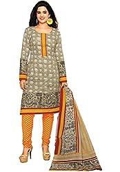 Azy Fabrics Women's Cotton Dress Material(331_FO_Grey)
