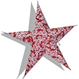Dakshcraft Red White Paper Star For Christmas Decoration
