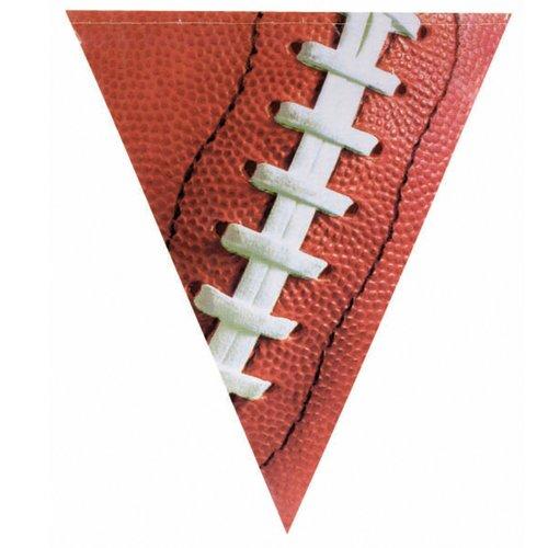 Amscan Festive Football Plastic Pennant Banner, 12', Brown