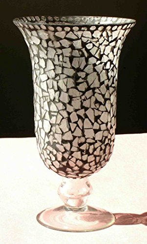 Sharma Overseas Mosiac Glass Hurricane Candle Holder / Vase