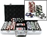 51XgyiskHgL. SL160  Coin Inlay Clay Poker Chips, Koffer mit 300 Chips (pro Stück)