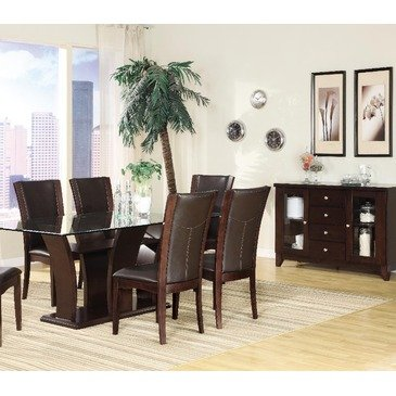Homelegance Daisy 5 Piece Rectangular Dining Room Set in Espresso