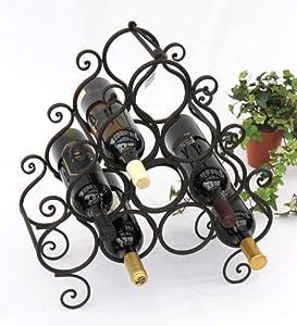 weinregal jc130060 aus metall f r 10 flaschen flaschenhalter 52cm flaschenregal. Black Bedroom Furniture Sets. Home Design Ideas