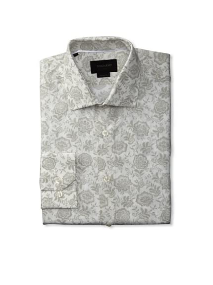 Duchamp Men's Folk Floral Print Shirt