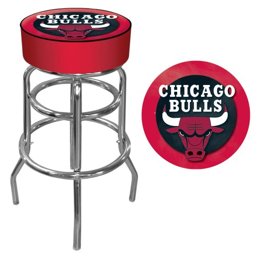 NBA Chicago Bulls Padded Swivel Bar Stool at Amazon.com
