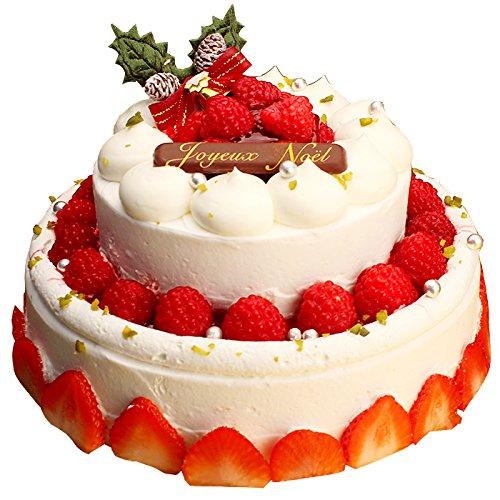クリスマスケーキ デコレーションケーキ パーティー用2段デコレーション チーズケーキ ギフト プレゼント