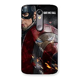 Cute Divide Multicolor Back Case Cover for Moto X Force