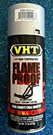 Duplicolor High Temp Exhaust Flameproof Paint, VHT Flat Silver, Pt# SP106, sp 106