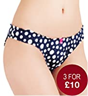 Low Rise Nautical Spotted Bikini Knickers