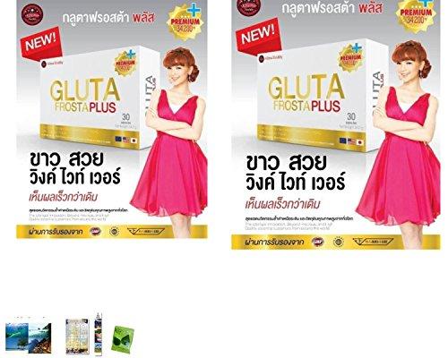 2 Packs Of : Gluta Frosta Plus - 30 Caps Whitening Skin Reduce Acne Freckles, Dark Spot