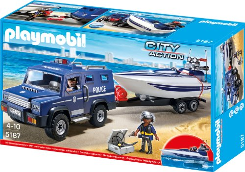 5187 - Polizei-Truck mit Speedboot