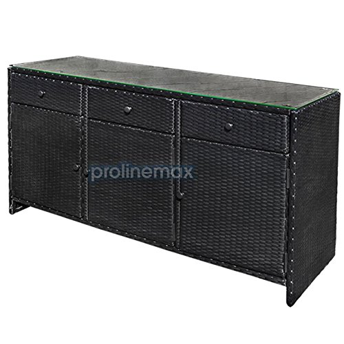 BLACK 3 Drawers Wicker Rattan Buffet Serving Cabinet Table  : 51XhBSykk5L from www.greathomegarden.com size 500 x 500 jpeg 40kB