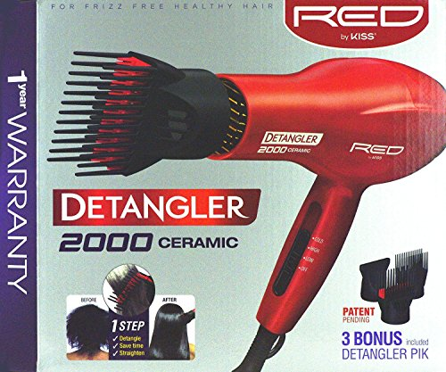 kiss-products-red-detangler-dryer-plus-3-attachmnents-175-pound