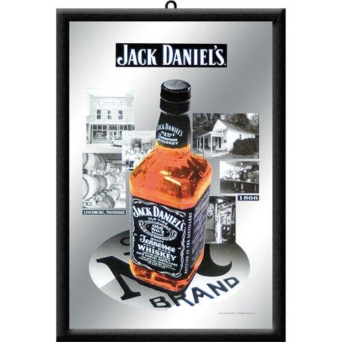 Nostalgic Art 80713 - Specchio con bottiglia Jack Daniels 1866, 20 x 30 cm